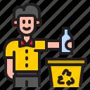 recycle, bottle, trash, bin, garbage
