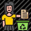 recycle, paper, trash, bin, garbage