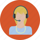 call, chat, female, internet, marketing, phone, talk icon