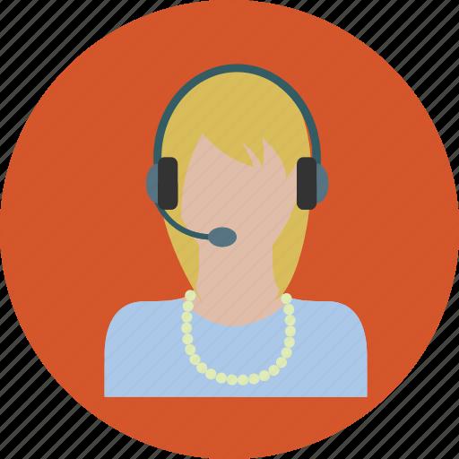 call, chat, female, internet, marketing, phone, talk icon