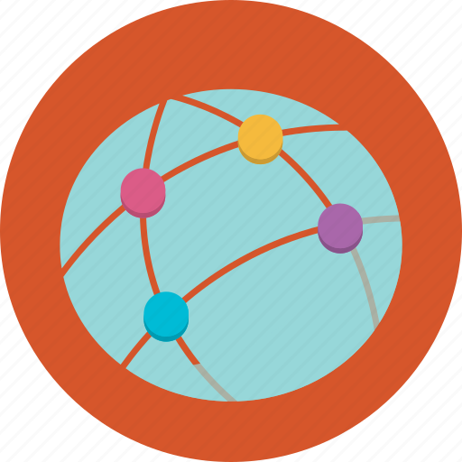 connect, globe, information, internet, marketing, online icon