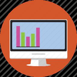 computer, imac, information, internet, marketing, statistics, stats icon