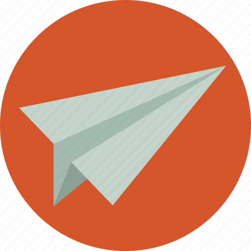 airplane, internet, marketing, message, paper, paper plane icon
