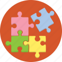 fragmented, internet, marketing, piece, puzzle, red icon