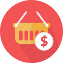 basket, cart, commerce, online, shopping, store, supermarket icon