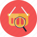 add, magnifying glass, online store, plus, shopping, sign icon