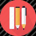 material, pen, pencil, ruler, tool, writing, learning