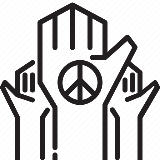 childen, hand, help, hope, peace, refugee, sign icon