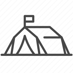 asylum, displaced, migrant camp, outdoor, refugee, tent icon