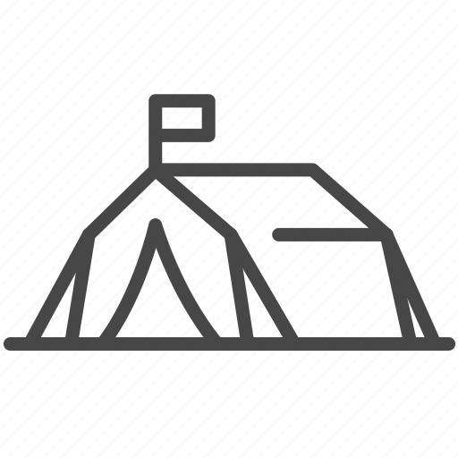 Asylum, displaced, migrant camp, outdoor, refugee, tent icon - Download on Iconfinder