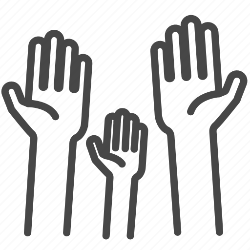 displaced, hands, help, people, refugee, show icon