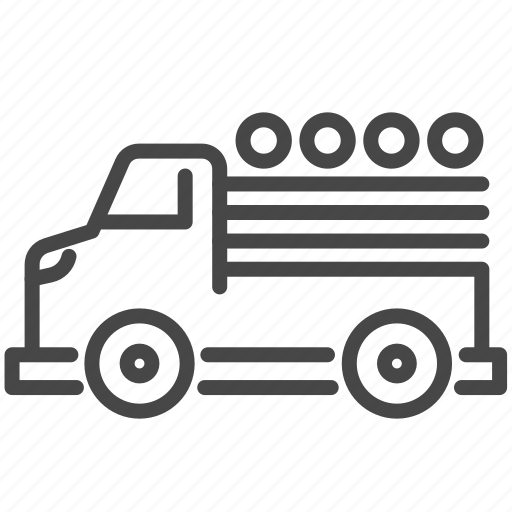 carry, delivery, displaced, logistic, refugee, transport, truck icon