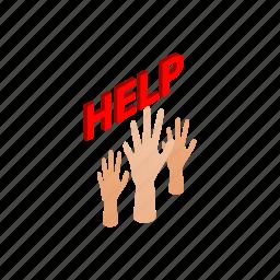 help, human, immigrant, isometric, people, refugee, war icon