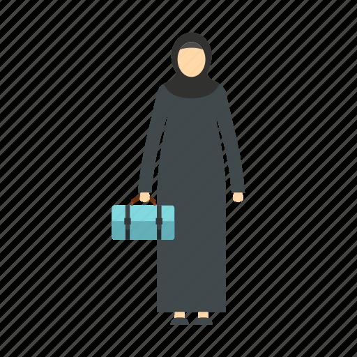 arab, arabic, arabic woman, head, hijab, logo, scarf icon
