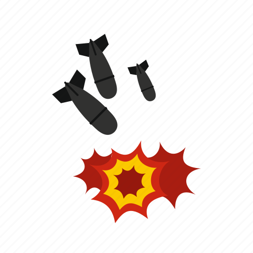 aggression, air, atomic, bomb, destruction, logo, missile icon