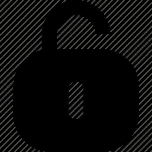 no password, unlock icon