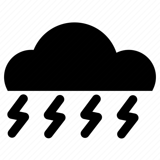 cloud, lightning, rain, storm, tunderstorm icon