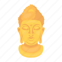 attribute, buddha, buddhism, faith, prayer, religion, silhouette icon