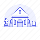 building, chapel, christian, church, grave, graveyard, mausoleum, religion icon