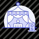ball, crystal, divination, fortune, future, magic, palmist, religion, tarot, teller, tent icon