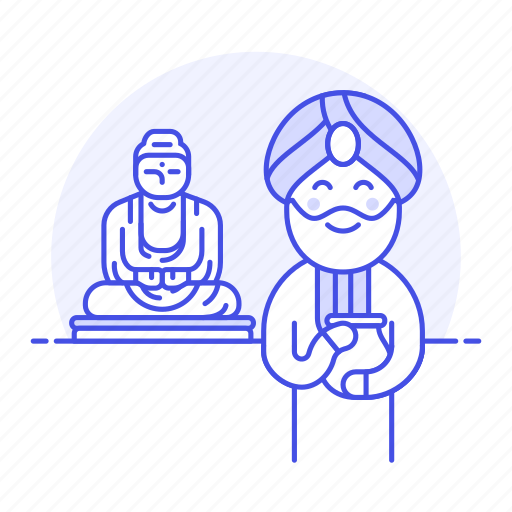 1, buddha, buddhism, buddhist, great, headwear, indian, male, religion, statue, turban, worship icon