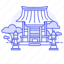 asian, building, japanese, lantern, religion, shrine, stone, temple, toro icon