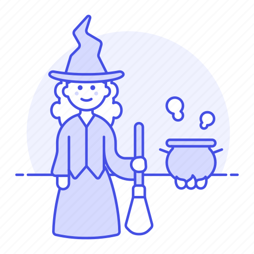 brewing, broom, broomstick, cauldron, halloween, magic, pot, religion, spell, witch, witchcraft icon
