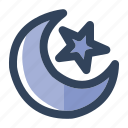 islam, islamic, moon, muslim, ramadan, religion, star icon