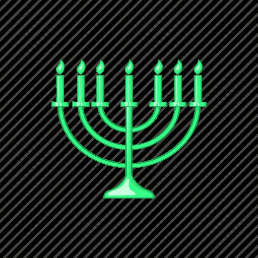 candlestick, cartoon, chanukah, jewish, menora, menorah, religion icon