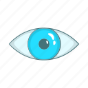 cartoon, eye, human, magic, religious, vision icon