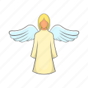 angel, beautiful, fairy, girl, greeting, love, wing icon