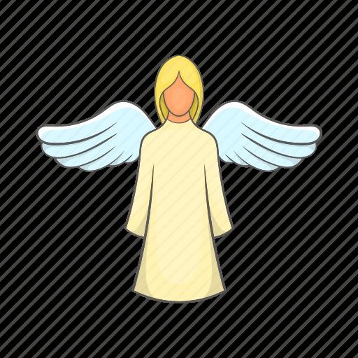 angel, beautiful, fairy, girl, greeting, love, wing icon
