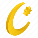 islamic, isometric, kareem, month, moon, ramadan, star icon