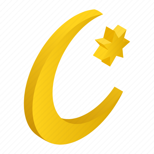 islamic, isometric, kareem, month, moon, ramadan, star icon