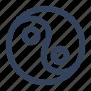 asian, buddhism, religion, tao, taoism, yin and yang, zen icon