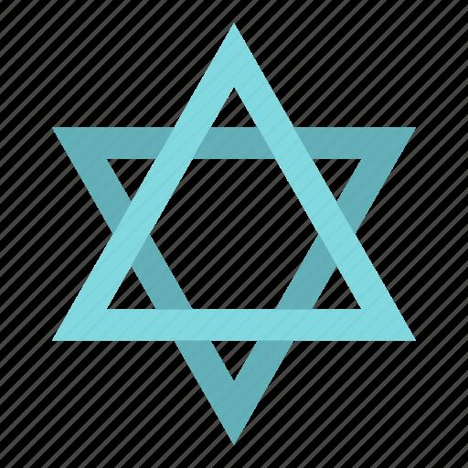 David, hebrew, israel, jew, jewish, religion, star icon - Download on Iconfinder