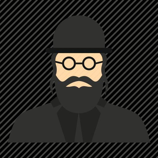 beard, hat, israel, jew, jewish, rabbi, religious icon