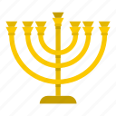 menorah, judaism, culture, jewish, hanukkah, religion, tradition icon