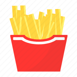 food, french fries, mcdonalds, potatoes icon