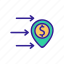 electronic, finance, international, money, remittance, speed, transfer icon