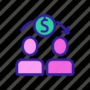 electronic, finance, international, money, people, remittance, transfer icon