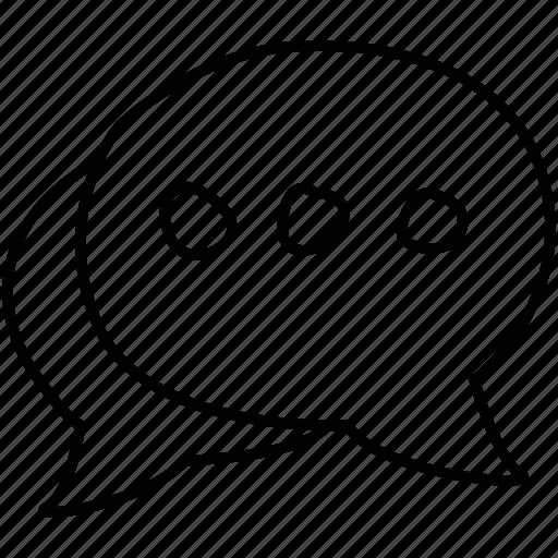 bubbles, comments, speech icon