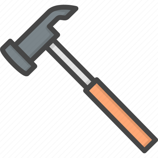 Filled, hammer, outline, renovation, service icon - Download on Iconfinder