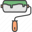 filled, outline, paint, renovation, roll, service icon