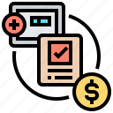 account, dealing, escrow, fund, trust icon