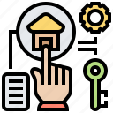 lease, option, property, purchase, selection icon