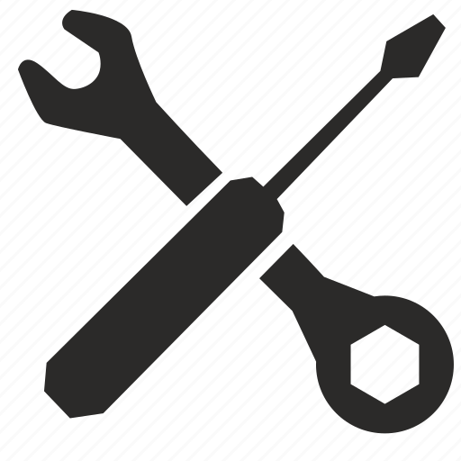 complex, instrument, repair, service icon