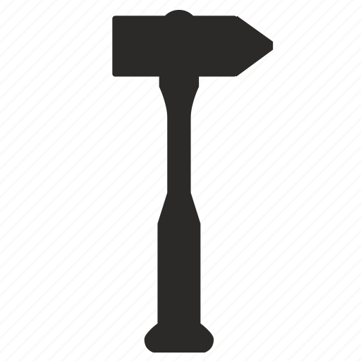 hammer, instrument, metal, repair, service icon