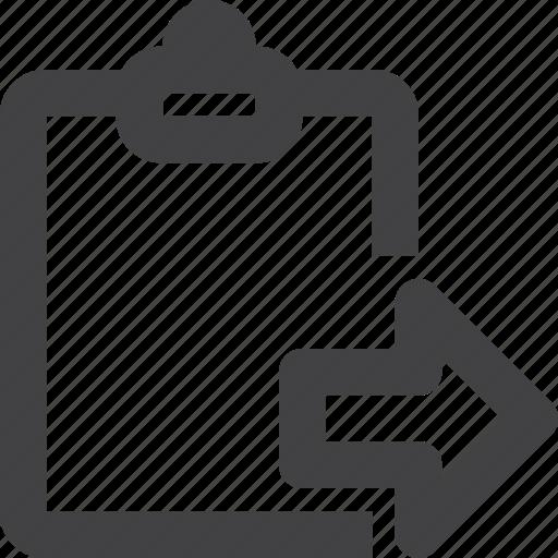clipboard, next, report icon