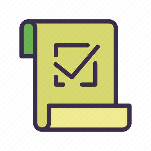 check, document, list, page, paper, report, sheet icon
